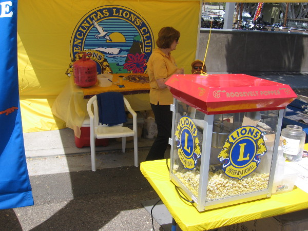 The Encinitas Lions Club had a table at the Spring Festival.