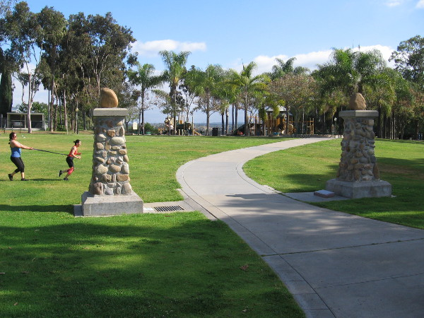 Trolley Barn Park is a beautiful part of University Heights that honors its colorful history.