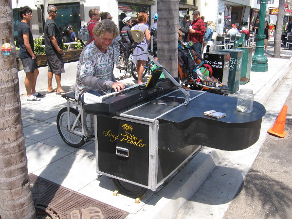 Ted White, The Song Peddler brought his cool bicycle piano contraption! Check out facebook.com/TedWhiteMusic