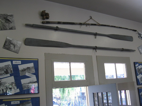 After stepping into the small Amici House, I turned around and took a photo of old fishing artifacts above the door.