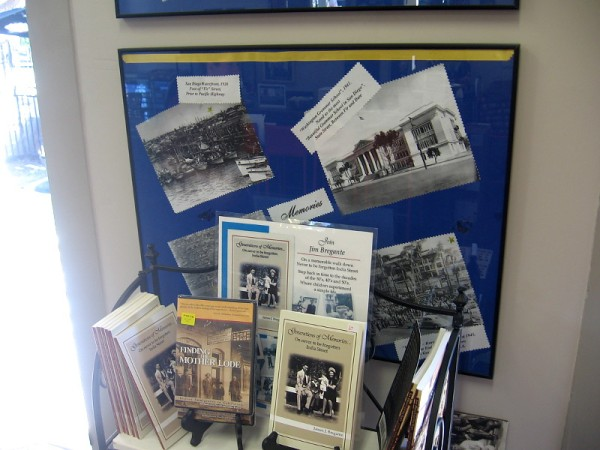 The walls inside the Amici House are full of historical photos and information concerning Little Italy, once center of a thriving tuna fishing industry.