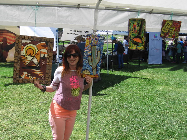 Mel Clarkston of LetsGetTrashed.Art shows her mosaics made of mostly plastic trash found on beaches!