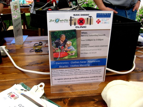 Every month, the San Diego Fixit Clinic will repair broken things like electronics, appliances, and even clothes!
