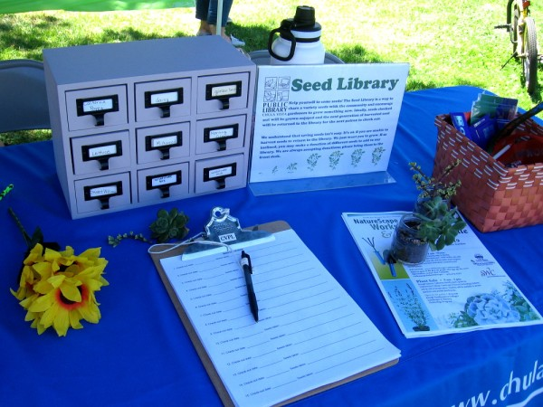This table explained a very cool Seed Library concept.
