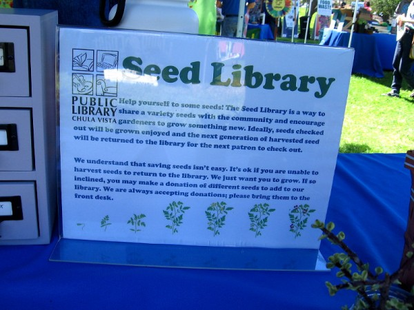 The Otay Ranch branch of the Chula Vista Public Library has a Seed Library. Community members can take seeds to plant, or donate harvested seeds back to the library!