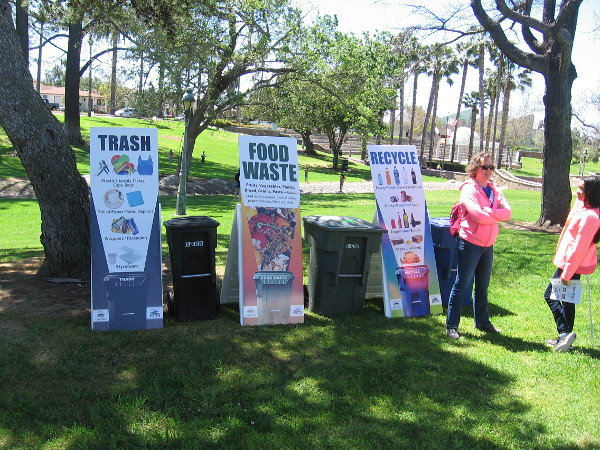 Of course, recycling stations could be found all around the South Bay Earth Day event!
