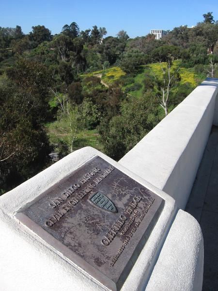 Looking back west along Cabrillo Bridge toward the West Mesa of Balboa Park.