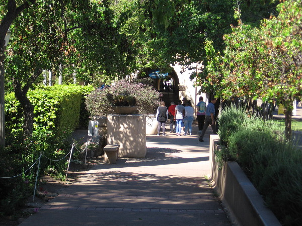 Walking along El Prado, just above the Zoro Garden.