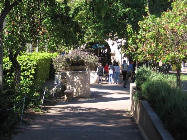 Walking along El Prado, just above the Zoro Garden.