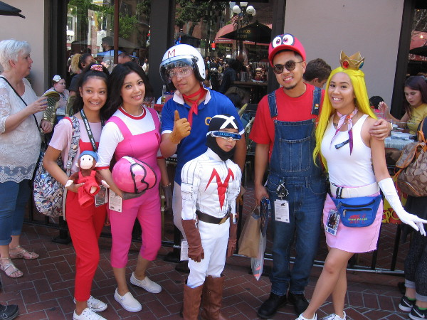 Speed Racer and Mario characters