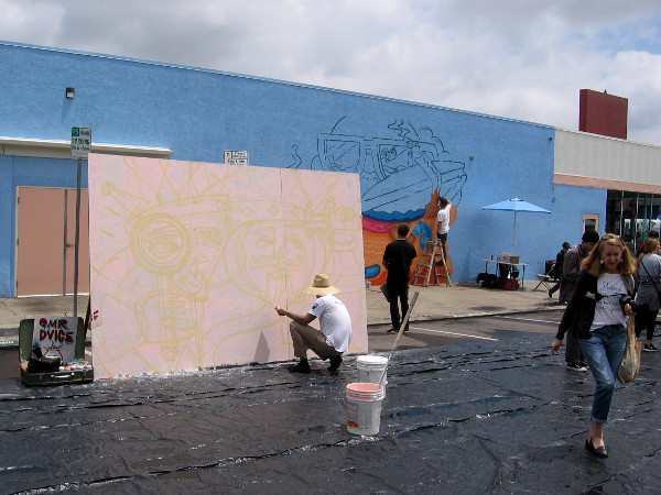The Live Art Block at the North Park festival was presented by VISUAL.