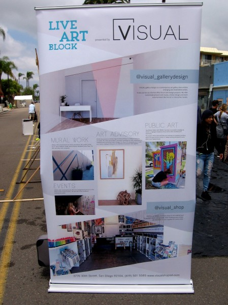 VISUAL helps connect local artists to public art projects. They also feature a gallery in North Park and sell art supplies.