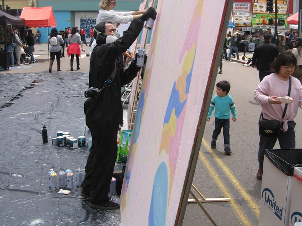 A number of local artists were creating new art to the delight of those walking about the festival.