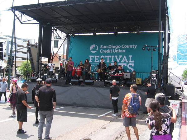 A live music performance at the San Diego County Credit Union Festival of Arts.