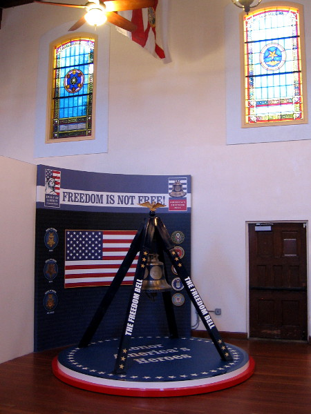 America's Freedom Bell has found a new home inside San Diego's beautiful Veterans Museum, which used to be the San Diego Naval Hospital Chapel.