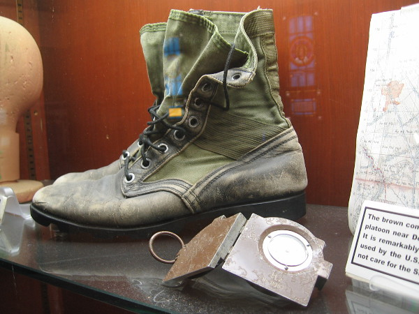 The worn boot of one who fought for liberty.