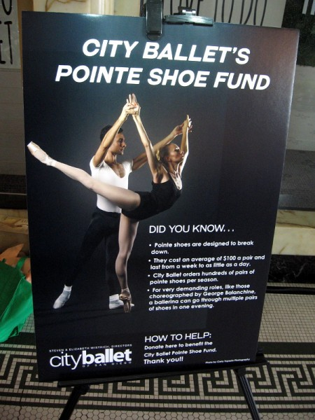 City Ballet of San Diego is looking for donations for their Pointe Shoe Fund.