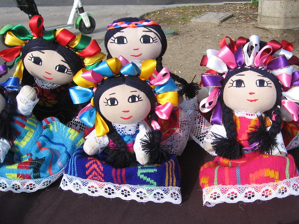 Mexican dolls for sale on the boardwalk.