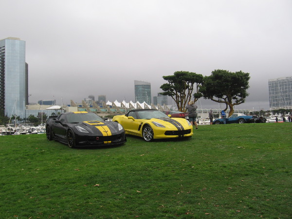 Cool cars under overcast skies.