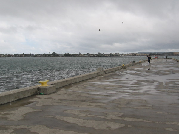 But the nearby pier is almost empty.