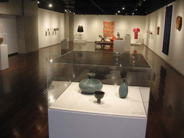 A look at the current exhibition in the San Diego Central Library's art gallery. Crafting Opportunity: Mid-Century Work from the Collection of Mingei International Museum.