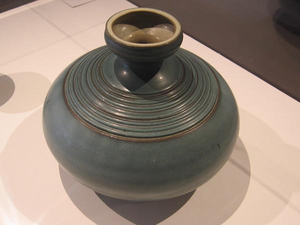 Vase, c. 1959, glazed stoneware. Harrison McIntosh.