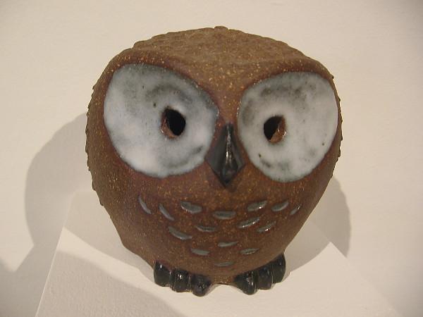 Owl, c. 1960, glazed stoneware. Marg Loring.
