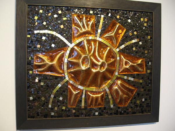 Untitled, c. 1965, mosaic and enameling. Ellamarie Woolley.