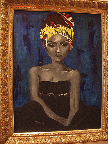 Black Woman, Danielle Simone Grimes, acrylic. Morse High School.