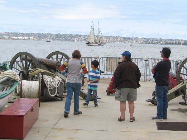 Gazing out at San Diego Bay from the back of the Maritime Museum of San Diego's barge.