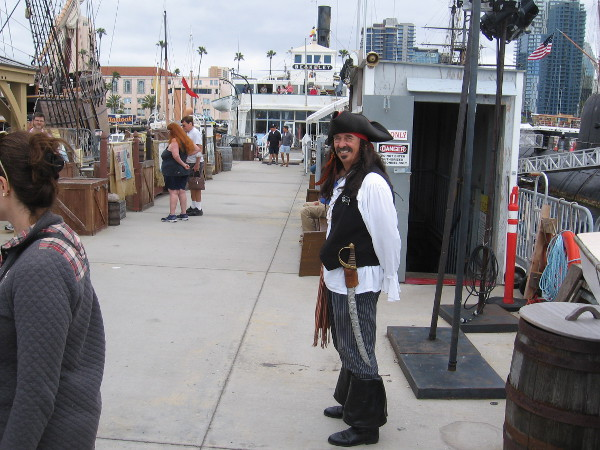 You just knew there would be a pirate!