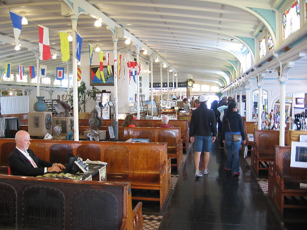 Lots of artists had their work on display inside the elegant passenger deck of the Berkeley.