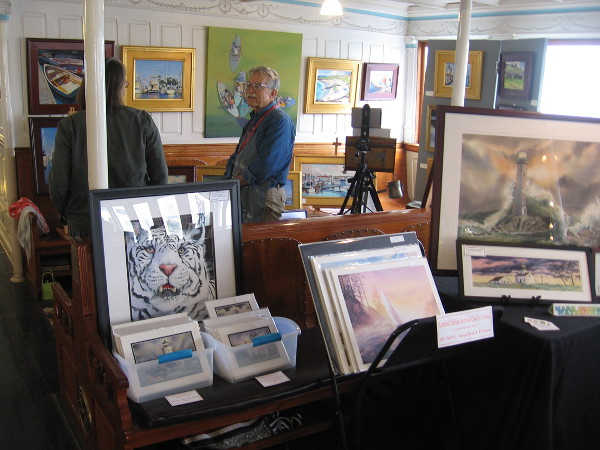 A large selection of art was being displayed aboard the Berkeley. I was surprised to see so much!