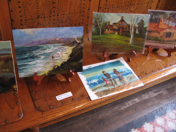 Examples of Norm Daniel's surf and island themed work.
