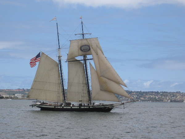 The Martime Museum's beautiful Californian is the official tall ship of California.