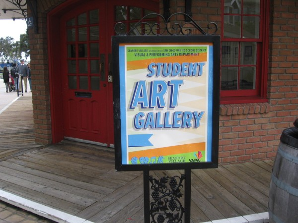 The Student Art Gallery at Seaport Village, in partnership with the San Diego Unified School District's Visual and Performing Arts Department.