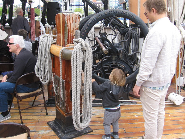A kid explores the workings of the world's oldest active sailing ship!