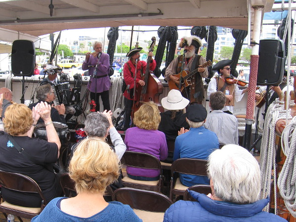 The Jackstraws sing lively, often humorous tunes during the Festival of the Sea!