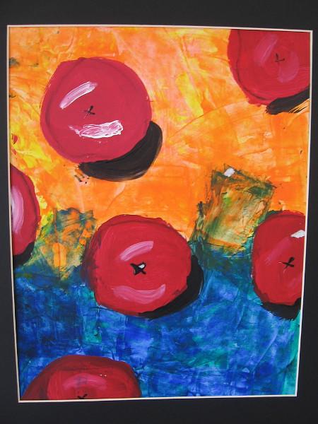 Tiernan Nauton, Cezanne Apples, 2019. Tempera on paper. Grade 3, Kumeyaay Elementary School.