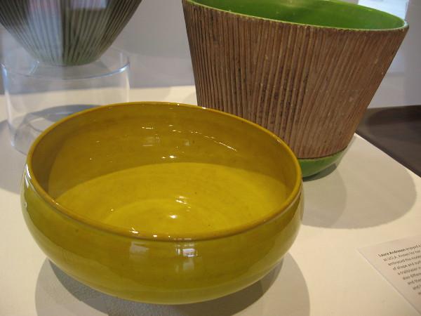 Bowl, 1954, glazed earthenware. Laura Andreson.