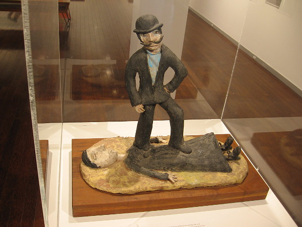 The Superior Masculine Mind, date unknown, glazed stoneware. Beatrice Wood, whose work often contains a playful feminist angle.