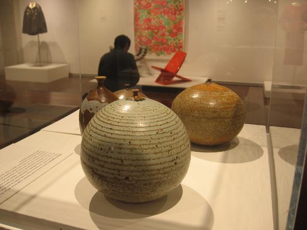 Weed Pots, c. 1965, glazed stoneware. Wayne Chapman.