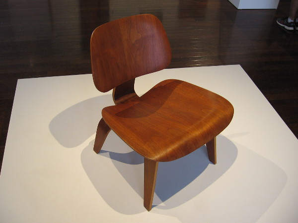 LCW (Lounge Chair Wood), c. 1946, molded plywood. Charles and Ray Eames, who famously revolutionized industrial design by introducing molded plywood.