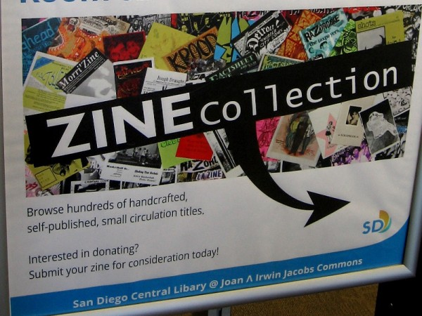 San Diego Central Library's zine collection is on the 8th floor. Browse hundreds of handcrafted, self-published, small circulation titles.