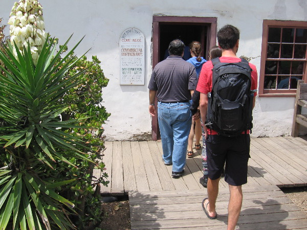 We enter Casa de Machado y Silvas, where today visitors can view the small Commercial Restaurant museum.