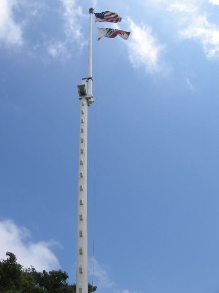 Old Town's flagpole resembles a ship's mast!
