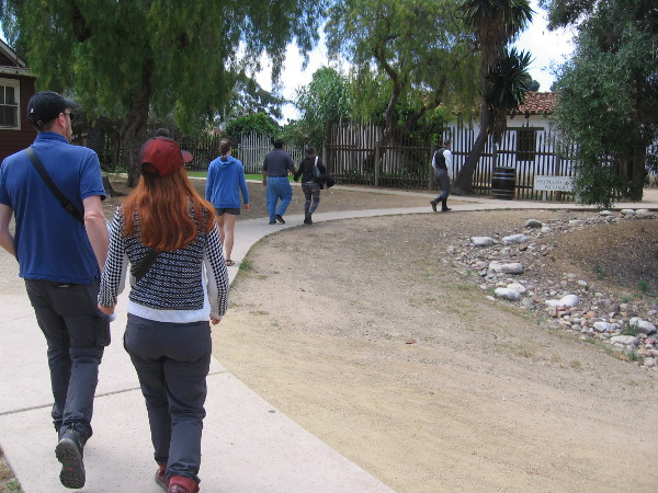 We head toward a beautifully restored adobe house that stands alone behind the plaza buildings.