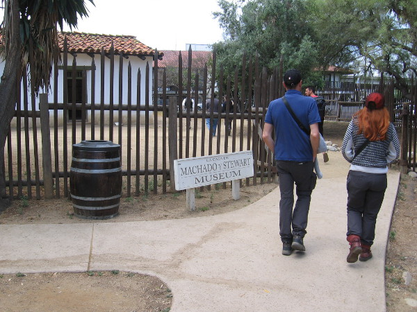 Entering the grounds of La Casa de Machado y Stewart Museum.
