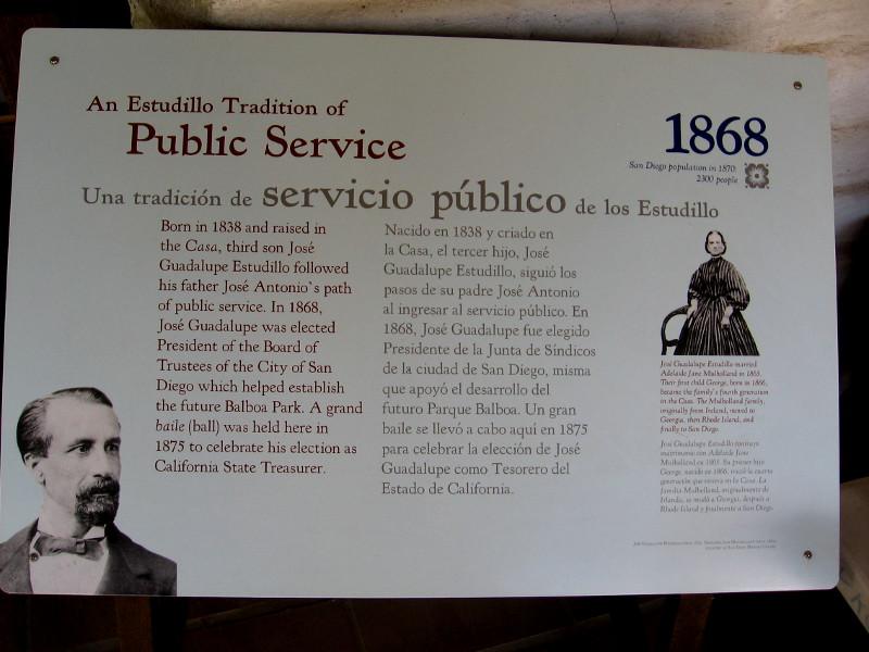 An Estudillo tradition of public service.