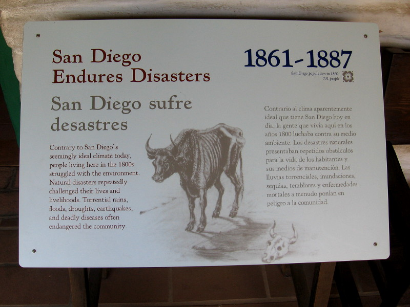 People living in San Diego in the 1800s struggled with natural disasters like torrential rains, floods, droughts, earthquakes and disease.